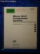 Sony Bedienungsanleitung CMT CQ1 Component System (#2268)