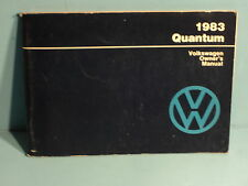 83 1983 Volkswagon Quantum Owners Manual
