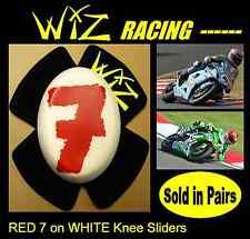 No. 7  DESIGN WIZ KNEE SLIDERS RED -WHITE