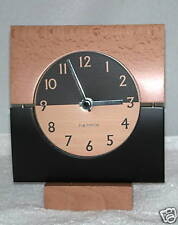HERMLE BLACK AND ALDER WOOD MANTLE CLOCK