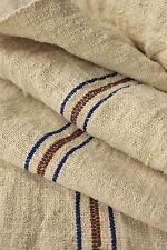 Antique European grain sack fabric Rustic nautical look linen Nubby 8.7 yds