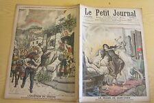 Le petit journal 1906 805 Drame Saint-Ouen éruption volcan Vésuve Italie