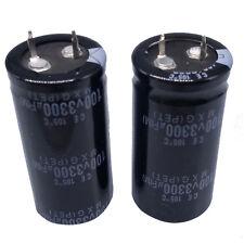 US Stock 2pcs Electrolytic Capacitors 3300uF 3300mfd 100V +105℃ Radial 25 x 50mm