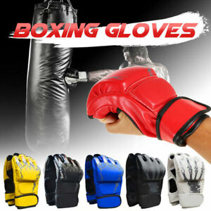 Boxing MMA Gloves Grappling Punching Bag Training Kickboxing Fight Sparring
