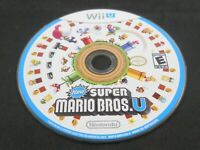 New Super Mario Bros. U (Wii U, 2012) Scratch Free Disc Only Tested