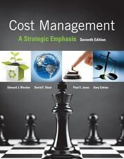 Cost Management : A Strategic Emphasis by Paul Juras, David Stout, Edward Bloche