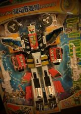 TRANSFORMERS K.O. : Thunder Robot, Super Warriors SIXSHOT *MOSC*