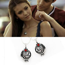 The Vampire Diaries Elena's Vervain Verbena Necklace Antique Locket Pendant Chic