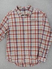 Toad & Company Sierra Nevada Light Plaid Button Down Shirt (Mens Medium)