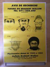 Affiche, nivelles, tueurs du brabant wallon, gendarmerie, delhaize, ronquieres