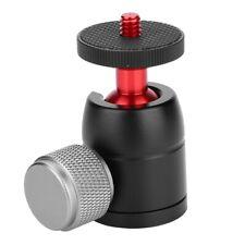 "Aluminum Alloy 360°Swivel Mini Ball Head 1/4"" Screw Mount for DSLR Camera Tripod"
