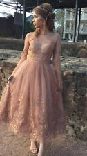 Stunning Chi Chi London Embroidered Lace Tulle Dress Size 14-16 BNWT