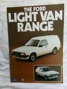 Ford Light Van Range Sales Brochure FA290 September 1981 A4 10pp