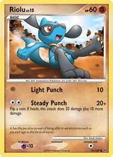 Riolu Common Pokemon Card Pt1 Platinum 91/127