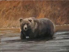 Sean Wu original oil painting 12x16 on stretched canvas, bear