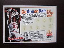 Patrick Ewing 1993 McDonalds Foot Locker Scratch Off Card Go One On One Nr Mint