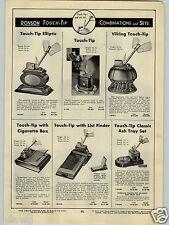 1940 PAPER AD Ronson Touch Tip Cigarette Lighter Elliptic Viking Classic Ash