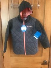 New With Tags Columbia Youth Girl's Puffect Jacket - Small - Gray - retail $100