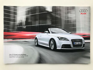 Audi TT Coupe & Roadster Price & Specifications list guide Model year 2008