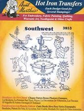 Southwest Motifs Aunt Martha's Hot Iron Embroidery Transfer #3853