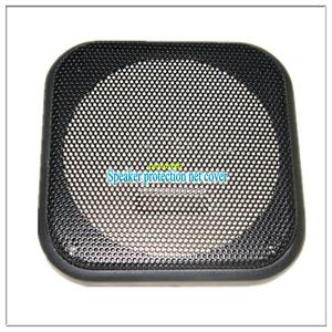 Rejilla de altavoz 4 piezas 2 pulgadas Rejilla de altavoz de Audio protectora Auto Audio altavoz de malla rejilla de barra para altavoz decorativo OSCURO