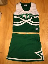 Yth M/L Cheerleader Uniform Wcyfl Green & White
