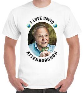 I Love David Attenborough T-Shirt Naturalist Environment Green Earth