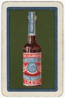 Playing Cards Single Card Old Vintage YORKSHIRE RELISH Bottle Advertising Art 2