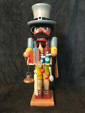 "Vintage Holzkunst Christian Ulbricht 15"" Wood Nutcracker Pharmacist West Germany"