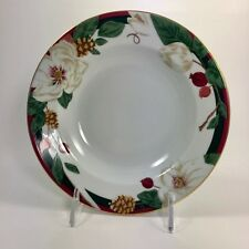 """MAGNOLIA 8"""" SOUP BOWL SET OF 4 TIENSHAN FINE CHINA FLOWER REPLACEMENT DISHES"""