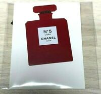 CHANEL paper charm red bottle no 5 l'eau Holiday 2018/2019 *Rare* Vip Giftv