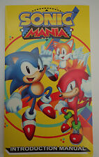 Sonic Mania Introduction Manual, Concept Art and Team Bio SDDC 2017 Exclusive