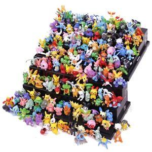 144Pcs Pokemon Toys Lot Action Figure Anime Whole Sale Doll Kids Party Xmas Gift