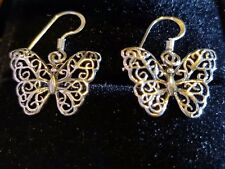 butterfly Pendant 15mm earrings sterling silver
