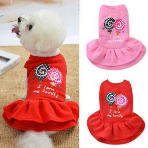 Pet Clothes Lollipop Skirt Small Dog Puppy Chihuahua Cat Warm Princess Dress