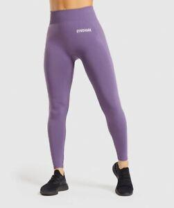 gymshark breeze lightweightseamless legings purple size medium
