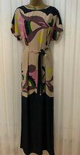 Temperley Londres Seda Lazo Floral Cintura Estampado Drape Boda Fiesta Maxi De 8