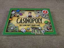 Casinopoly Casino Party Board Game 2001 Reveal Inc Blackjack Craps Slot Roulette
