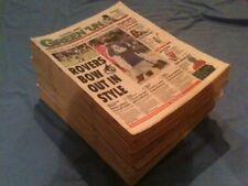 BRISTOL ROVERS MEMORABILIA £2 EACH GREENUN NEWSPAPERS MATCH REPORTS 1998 TO 2004