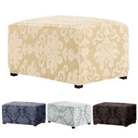 Ottoman Slipcover Rectangle Storage Stool Sofa Footrest Cover Chair Protector