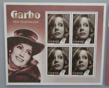 More details for sweden - greta garbo souvenir sheet (limited to 30,000 copies)