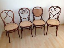 4 Original Thonet Stühle Nr.1, 2, 3, 4 um 1870 Erste Etikette