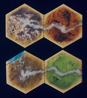 Catan Expansion Traders & Barbarians | Rivers of Catan Hex Tiles x2 |Game Pieces