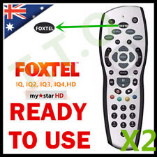 TWO FOXTEL REMOTE Control Replacement For FOXTEL MYSTAR HD & PAYTVS SILVER COLOR