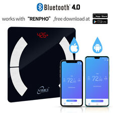 Body Fat Bathroom Weighing Scales Digital BMI Smart Bluetooth Weight 400LBS