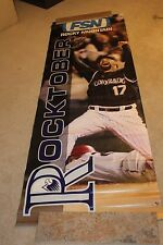 Colorado Rockies Game Use Todd Helton BANNER FROM COORS FIELD RARE!!!!!