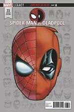 Spiderman Deadpool 23 Mike McKone Headshot Variant Nm Legacy Tie