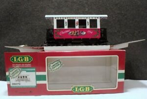 MINT IN BOX NEW NEVER USED GERMANY LGB LEHMANN G-Scale CHRISTMAS COACH # 35070