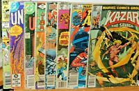 Vintage Comic Book Lot of Seven DC & Marvel Comely Comix 1980's