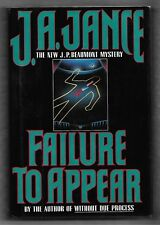 Failure to Appear, J P Beaumont, J A Jance, 1st prt, 1st edt, Signed hardcover
